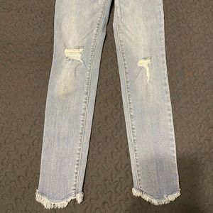Girls Ripped Knee Jeans